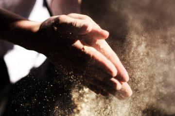 kädet, pöly, työnteko